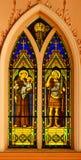 Finestra di vetro macchiato della chiesa Immagini Stock
