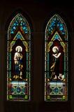 Finestra di vetro macchiato della chiesa Fotografia Stock Libera da Diritti