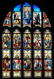 Finestra di vetro macchiato della vita di Jesus Montargis immagine stock libera da diritti