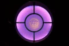 Finestra di vetro macchiato di Dio di Sun Fotografia Stock