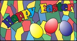 Finestra di vetro macchiato di Pasqua Fotografie Stock Libere da Diritti