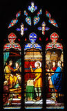 Finestra di vetro macchiato di re Dagobert Montargis fotografia stock libera da diritti