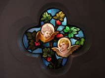 Finestra di vetro macchiato a Georgetown del Washington DC immagine stock libera da diritti