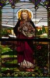 Finestra di vetro macchiato, Jesus Christ fotografie stock
