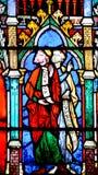 Finestra di vetro macchiato nella cattedrale di Notre Dame di Parigi, Immagine Stock Libera da Diritti