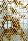 Finestra di vetro rotta Fotografia Stock