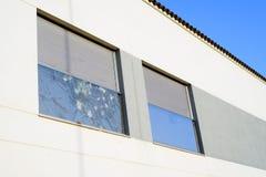 Finestra di vetro rotta Immagini Stock Libere da Diritti