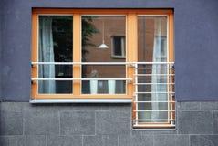 Finestra e balcone Fotografia Stock