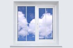 Finestra e cielo blu Fotografia Stock Libera da Diritti