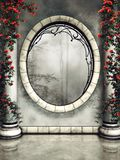 Finestra e colonne ornate royalty illustrazione gratis
