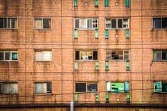 Finestra e parete dell'appartamento al giorno nella città di Taipei, Taiwan , Co Immagini Stock Libere da Diritti