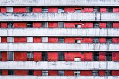 Finestra e parete dell'appartamento al giorno nella città di Taipei, Taiwan , Co Fotografie Stock
