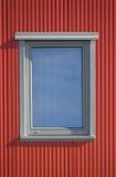 Finestra e righe rosse Fotografia Stock Libera da Diritti