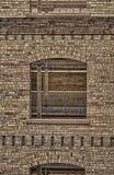 Finestra ed il vecchio muro di mattoni HDR 2 Fotografia Stock Libera da Diritti