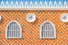 Finestra fatta del mattone a Venezia immagine stock libera da diritti