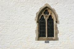 Finestra gotica immagini stock