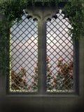 Finestra gotica Fotografie Stock