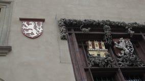 Finestra, grata, costruzione medievale stock footage