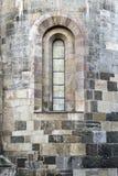 Finestra imbarcata in una cattedrale Fotografia Stock
