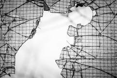 Finestra incrinata con il Web Immagini Stock Libere da Diritti