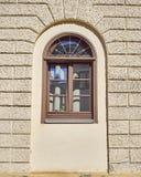 Finestra incurvata casa, Munchen, Germania Fotografia Stock Libera da Diritti