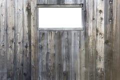 Finestra isolata sul granaio Fotografie Stock Libere da Diritti