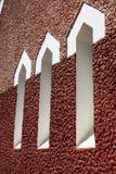 Finestra marrone di ripetizione tre, ventilatore Immagini Stock