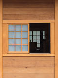 Finestra nello stile giapponese Fotografie Stock