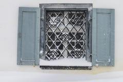 Finestra in neve Parpan Fotografia Stock