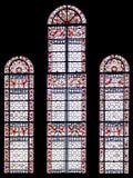 Finestra orizzontale della chiesa Fotografia Stock