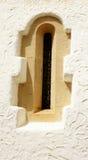Finestra a Palau de marzo e cel in Sitges Fotografie Stock