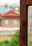 Finestra piovosa in Siem Reap Immagini Stock