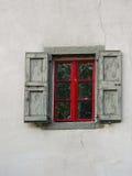 Finestra rossa Fotografia Stock Libera da Diritti