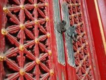Finestra rossa antica nella Città proibita Fotografie Stock