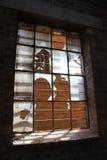 Finestra rotta Fotografie Stock