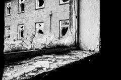 Finestra rotta Fotografia Stock
