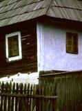 Finestra rustica della casa Fotografie Stock