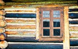 Finestra sporca di una cabina di ceppo Fotografia Stock Libera da Diritti