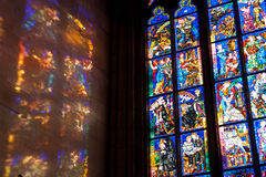 Finestra in st Vitus Cathedral Fotografie Stock Libere da Diritti
