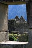 Finestra su Machu Picchu Immagine Stock Libera da Diritti