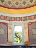 Finestra sul giardino botanico di Palermo Fotografie Stock