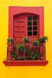 Finestra sulla casa messicana Fotografie Stock Libere da Diritti