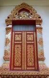 Finestra tailandese del tempiale Immagine Stock Libera da Diritti