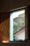 Finestra tailandese del tempio Fotografie Stock