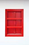 Finestra tailandese rossa di stile Immagini Stock