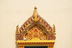 Finestra in tempiale della Tailandia fotografie stock