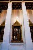 Finestra, tempio Bangkok di Lohaprasart immagine stock libera da diritti