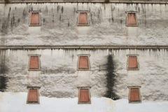 Finestra tibetana tradizionale di stile Fotografie Stock Libere da Diritti