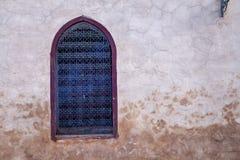 Finestra tradizionale con grattare, Marocco Fotografia Stock