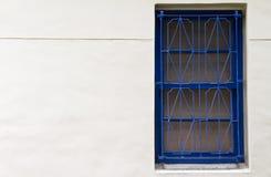 Finestra tradizionale dell'azzurro di stile cinese Immagini Stock Libere da Diritti